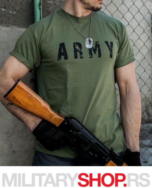Pamučna majica ARMY zelena