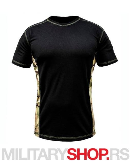 Sportska majica Coolmax crna sa multicam detaljima