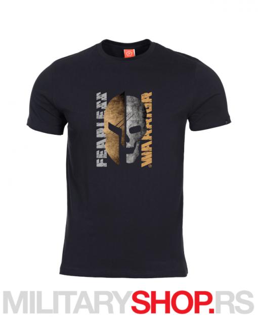 Pamučna majica FEARLESS WARRIOR crna boja