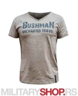 Bushman majica sa V izrezom bež boja