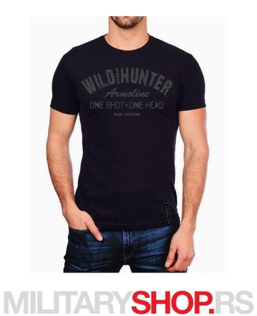 Majica WILD HUNTER crna boja Armoline