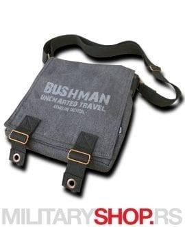 Kompaktna torbica sive boje Bushman Antracit