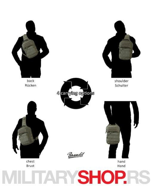 Brandit crna torbica Every day Carry Sling