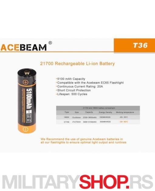 Baterija Acebeam Li Ion 21700
