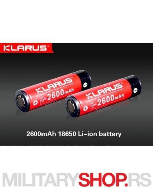 Litijum jonska baterija 18650 Klarus 2600 mAh