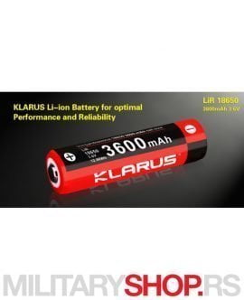 Klarus baterija Li Ion 18650 3600 mAh