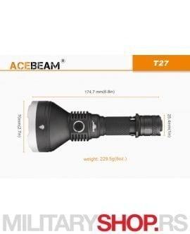 Lampa Acebeam T27 domet 1180 metara