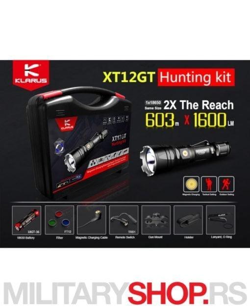 Klarus lovački set XT12GT