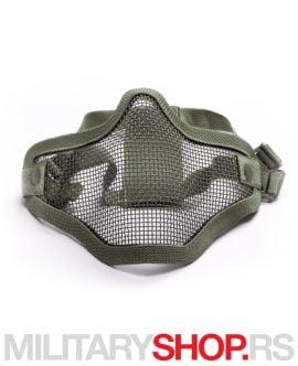 Mesh maska za airsoft zelena