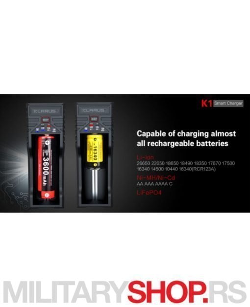 Punjač baterija Klarus K1