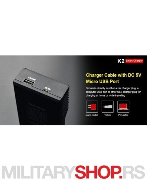 Klarus punjač za dve baterije K2