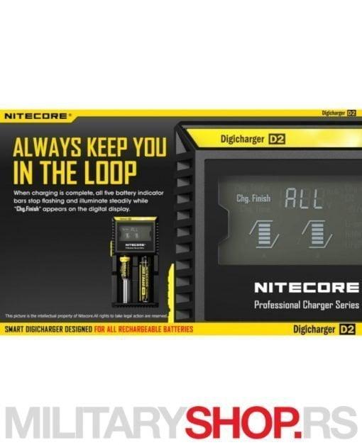 Pametni punjač za baterije Nitecore D2