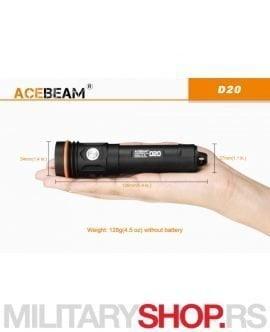 Ronilačka lampa D20 Acebeam