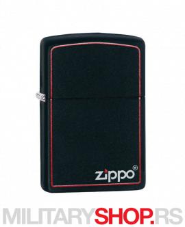 Red-Black matte Zippo upaljač