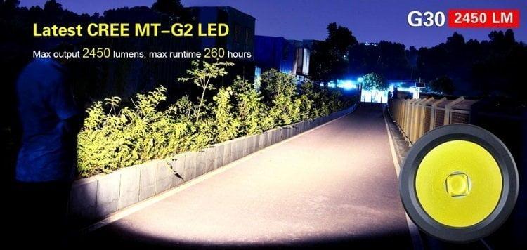 Profesionalna baterijska lampa Klarus G30