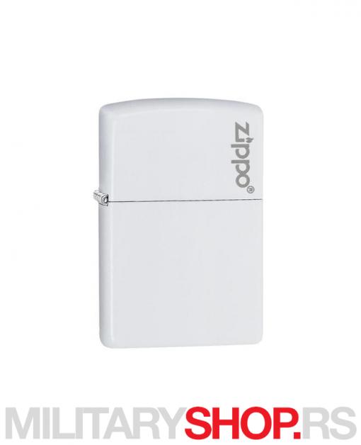 Zippo upaljač beli mat sa logom