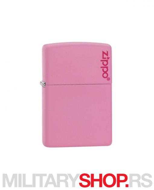 Roze mat upaljač Zippo sa logom