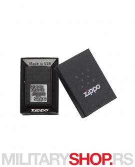 Zippo crni upaljač sa srebrnim logom
