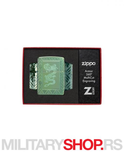 Visokopolirani Zippo upaljač Zeleni zmaj