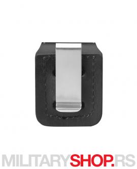 Crna kožna futrola za Zippo upaljač LPCBK