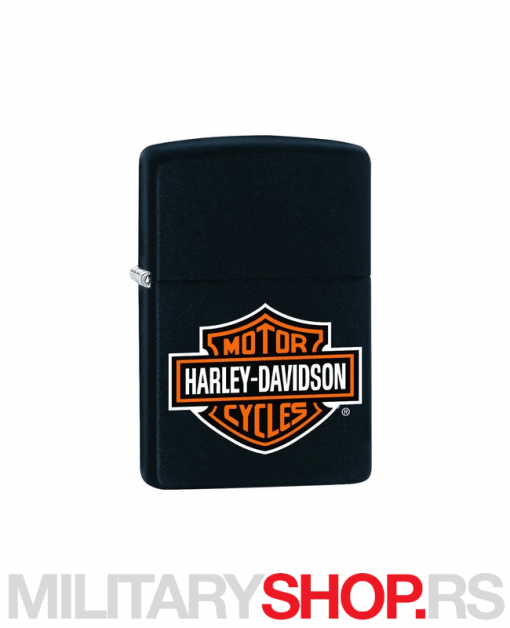Crni Zippo upaljač sa logom Harley Davidson