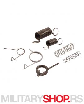 Set opruga za Airsoft AEG gearbox 2 i 3 sadrže unapređenu seriju opruga. Napravljene su od izdržljivih i kvalitetnih materijala.