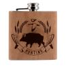 Lovačka pljoska sa motivom divlje svinje Trober