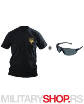 Majica sa logom i nesalomive naočare Drager