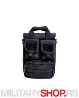 Crna muška torbica Silver Knight