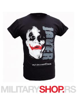 Pamučna crna majica Joker