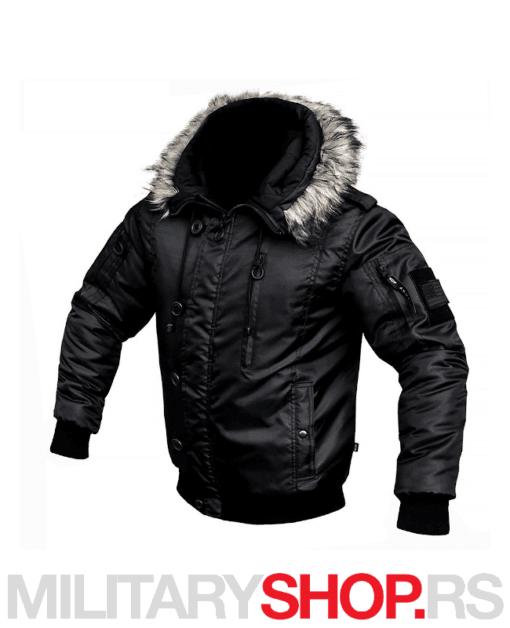 Zimska jakna sa kapuljačom Alaska fajerka crna