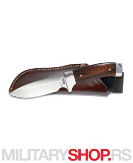 Lovački nož sa kožnom futrolom Linder