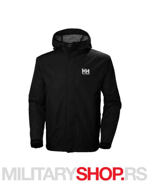 Kišna crna jakna Helly Hansen Seven J