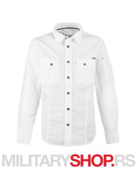 Strukirana bela muška košulja Brandit Slim Fit