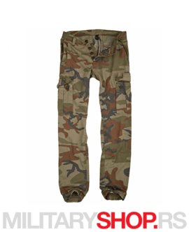 Slim fit Pantalone s džepovima maskirne Surplus Bad Boys