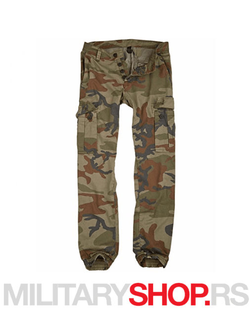 Slim fit Pantalone s džepovima maskirne Surplus Bad Boys