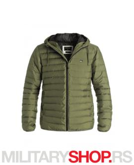 Punjena jakna s kapuljačom Quicksilver Scaly zelena