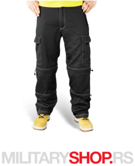2 u 1 Pantalone Surplus Trekking crne