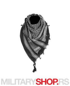 Pustinjska marama crno-bela Shemagh Armoline