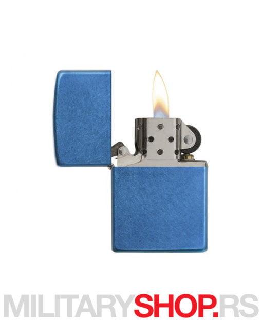 Zippo upaljač metalik plavi Cerulean