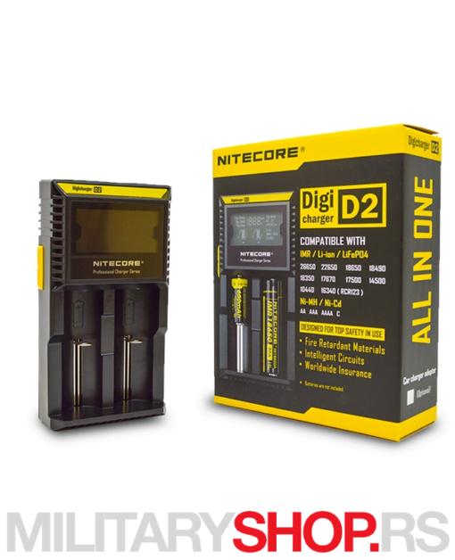 Punjač 2 baterije sa digitalnim ekranom Nitecore