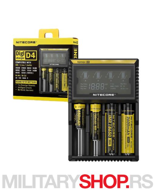 Punjač baterija D4 Nitecore LCD ekran