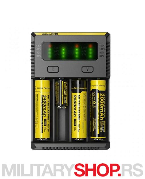 Punjač 4 baterije Nitecore New i4
