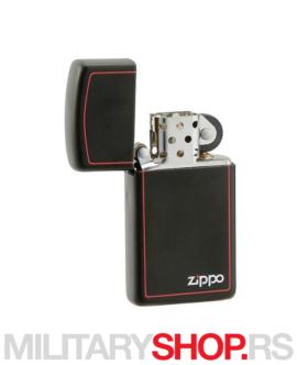 Zippo slim crni upaljač Red Border