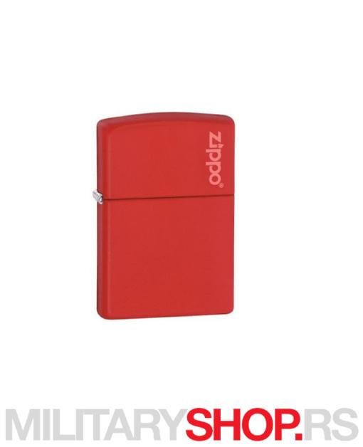 Zippo upaljač crveni mat sa logom