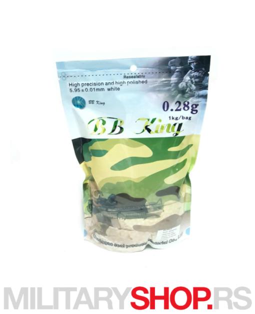 Airsoft kuglice BBking 0,28g 1 kilogram