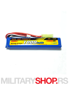 LiPo baterija za airsoft replike 7.4V 1000 mAh