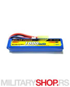 LiPo baterija za AEG replike 11.1V 1000 mAh