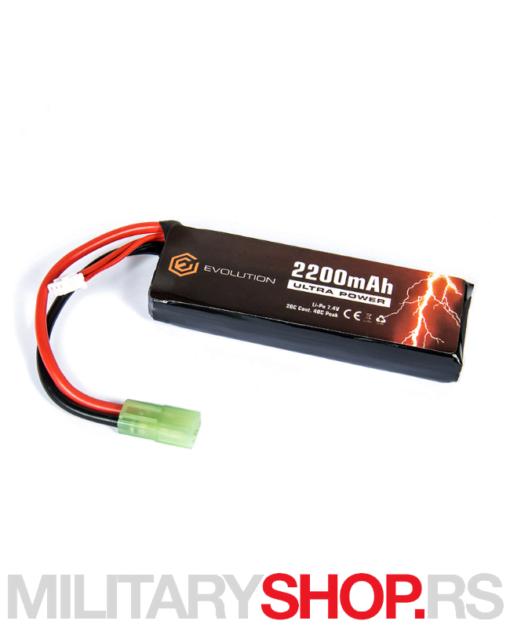 Evolution LiPo airsoft baterija 7.4V 2200 mAh