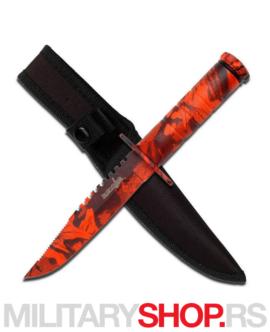 Nazubljeni nož sa futrolom Survivor HK-690RC
